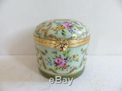 Superb Vintage Le Tallec Paris Limoges Gold Handpainted Trinket Jewelry Box (#3)