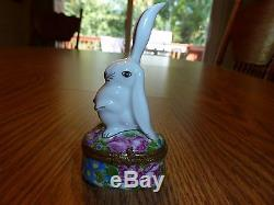 Sweet and Coy Limoges Bunny Rabbit Trinket Box