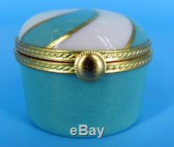 TIFFANY & CO LE TALLEC Private Stock HAPPY B'DAY HAND PAINTED FRANCE TRINKET BOX