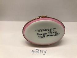 TIFFANY & Co. Rare Peint Main France LIMOGES Cuddle Cats enamel Trinket/Pill Box
