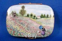 The Poppy Field near Argenteuil Claude Monet FRENCH LIMOGES box