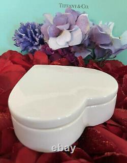 Tiffany Co Heart Trinket Box Valentines Porcelain 4 1978 W EDP T&Love For Her