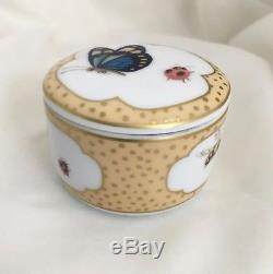 Tiffany & Co LIMOGES FRANCE Trinket Box Butterfly Ladybug Bee Porcelain Jewelry
