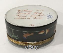 Tiffany & Co. Le Tallec Hand Painted Black Shoulder Box Signed Private Stock 140