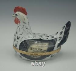 Tiffany Co Limoges France Large Hen On The Nest Trinket Box 4