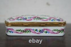 Tiffany & Co Private Stock Limoges France Porcelain Trinket Box Yes & No Keepsak