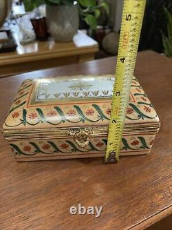 Tiffany & Co. Private Stock Limoges Hand painted Small Jewelry Box Directoire