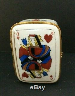 Tiffany Co Private Stock Trinket Box Le Tallec Card Queen Of Hearts Limoges #305