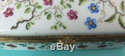 Tiffany Co. Trinket Box Private Stock Floral Limoges France Jewelry 5x3 1/2