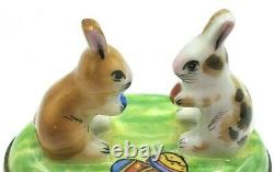 Twin Bunnies Limoges Box RETIRED