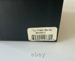 VERY RARE Radko LIMOGES 1998 TOY CHEST SANTA Blue Santa Claus Trinket Box NEW