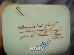 VINTAGE LE TALLEC LIMOGES FRANCE porcelain FLEUR DE LIS trinket box SIGNED ec fs