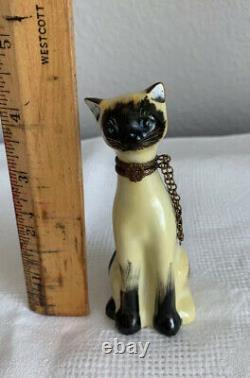 VTG Limoges Adorable Siamese Cat Trinket Box Peint a la Main France Hand Painted