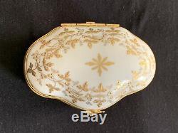 Vintage 1968 Le Tallec Limoges Porcelain Trinket Box