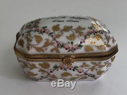Vintage Atelier Camille Le Tallec Limoges Porcelain Trinket Box 1967