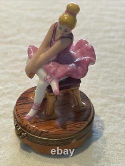 Vintage Ballerina Limoges Box