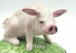 Vintage Farm Pig Limoges Box (Retired)