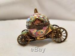 Vintage Genuine Limoge Peint Main Cinderella Trinket Carriage