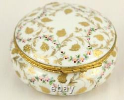 Vintage LE TALLEC LIMOGES Peint Main Hand Painted Porcelain Dresser Box 4