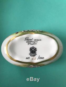 Vintage LOT Limoges France Peint Main 3 Trinket Boxes