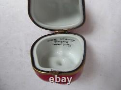Vintage Large Red Bell Pepper Rochard Peint Main Limoges France Box Bee Clasp