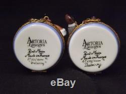 Vintage Limoges Artoria Dubarry Wall Street Bull and Bear set never displayed. S
