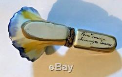 Vintage Limoges Flower Trinket Box Case Holder Peint Mein Colorful Hard to Find