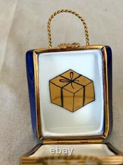 Vintage Limoges France Basket Trinket Box Nordstrom Bag Gift Inside