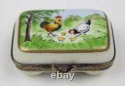 Vintage Limoges France FA Peint Main Egg Carton Box 98. 300 GC Signed FA