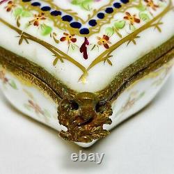Vintage Limoges France Hand Painted Rochard Heart Shaped Porcelain Trinket Box