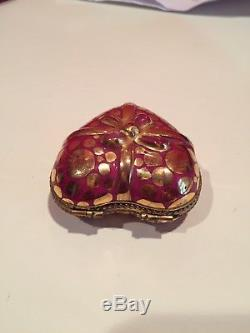 Vintage Limoges Heart Box With Removable Candy Peint mein. JD