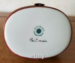 Vintage Limoges Rochard Arc DTriomphe Trinket Box Hinged Porcelain