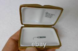 Vintage Limoges Rochard Trinket Pill Porcelain Box Medicine Medical Doctor Book