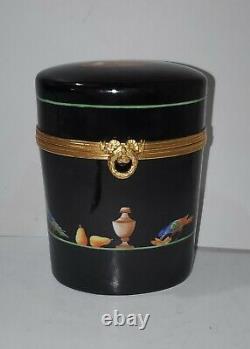 Vintage Limoges TIFFANY & Co Private Stock Le Tallec Black Shoulder Box RARE