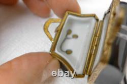 Vintage Limoges Trinket Pill Porcelain Box Medicine Medical Doctor Bag