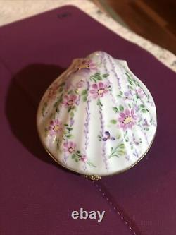 Vintage Limoges trinket box Peint Main Clam Seashell Nude Woman Mermaid Rare