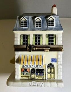 Vintage Porcelain Limoges Box Parfums Store with2 Perfume Bottles