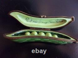 Vintage Pre-owned Limoges France Peint Main Pea Pod Trinket Box