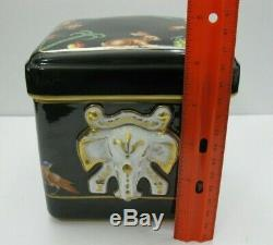 Vintage Tiffany & Co. Le Tallec Hand Painted Black Box Signed Private Stock