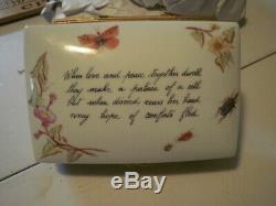 Vintage Tiffany & Co Limoges Hand Painted Trinket Box