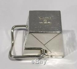 Vintage Tiffany & Co. Sterling Silver Chinese Food Pill Case Box Pouch Rare