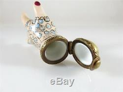 Vintage Victorian Hand Style Lomoges France Rochard Hand Trinket Box