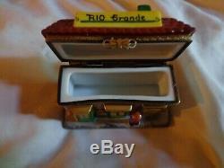 Vintage limoges trinket box peint main, EXIMIOUS. Limoges france