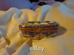 Vintage limoges trinket box peint main, EXIMIOUS. Limoges france! , INITIALED